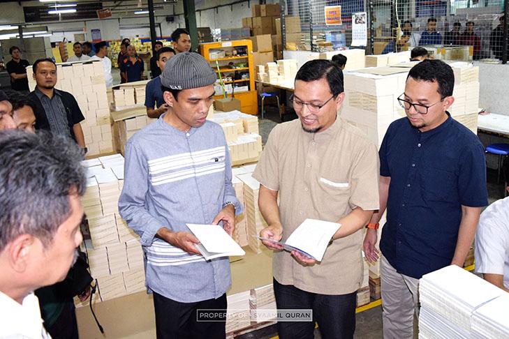 UAS Kunjungi Percetakan Al-Qur'an yang Ada di Kota Bandung