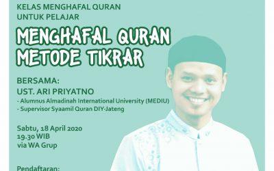530 Peserta Ikuti Pelatihan Menghafal Quran Metode Tikrar Secara Online