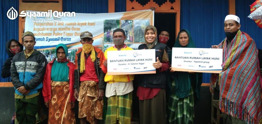 Rumah Syaamil Quran NTT Beri 5 Unit Rumah Layak Huni untuk Guru Ngaji di Pedalaman Timor Tengah Selatan