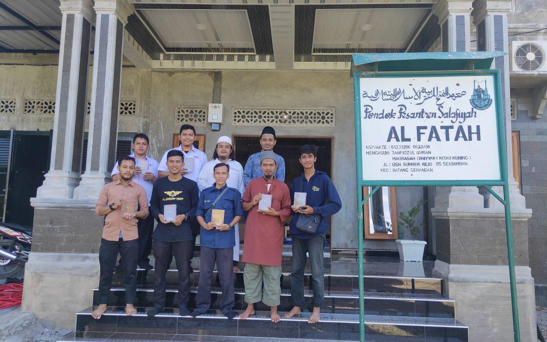 Penyaluran Wakaf 150 Al Quran Hafalan Tikrar untuk Ponpes di Kabupaten Langkat