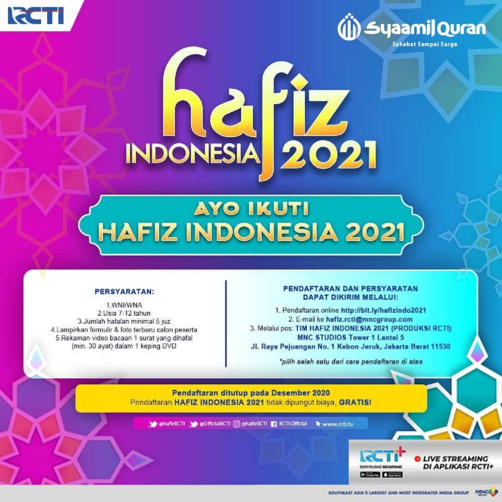 pendaftaran hafiz indonesia 2021, cara daftar hafiz indonesia 2021, formulir hafiz indonesia 2021, syarat daftar hafiz indonesia 2021