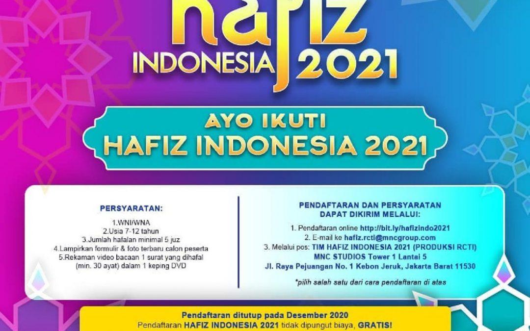 Pendaftaran Hafiz Indonesia 2021 [GRATIS]