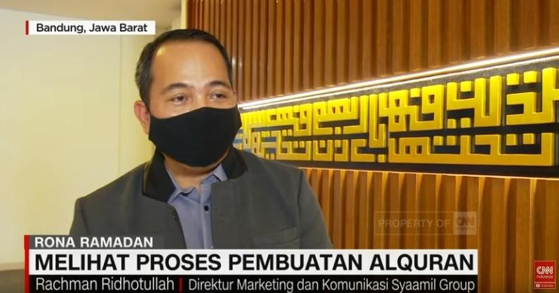 Liputan CNN Indonesia TV, Di Syaamil Quran