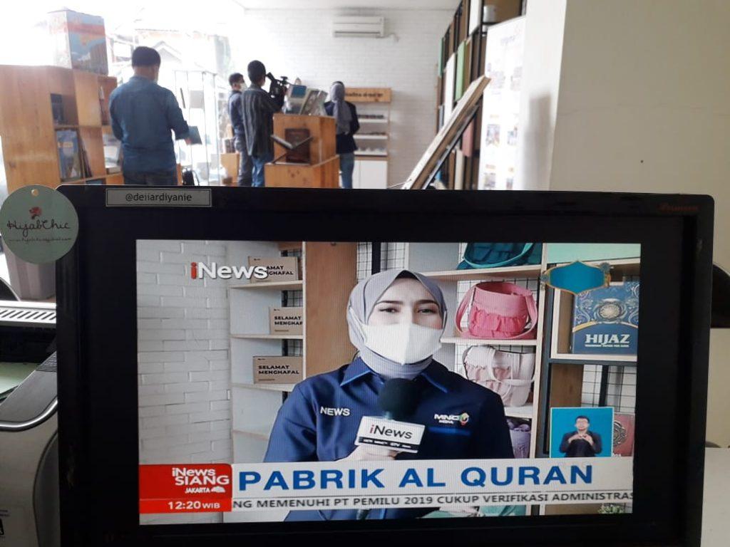 Laporan Langsung i News TV di Syaamil Quran : Wisata Quran, Wisata Religi Gratis di Bandung